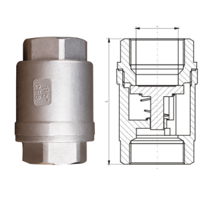 Factory stainless steel threaded vertical check valve