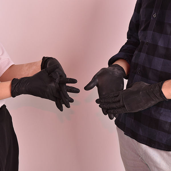 latex free disposable examination nitrile gloves