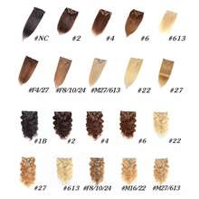 Full Cuticle Aligned Virgin Brazilian Hair Clip In Human Hair Extension Human Hair 100% Unprocessed