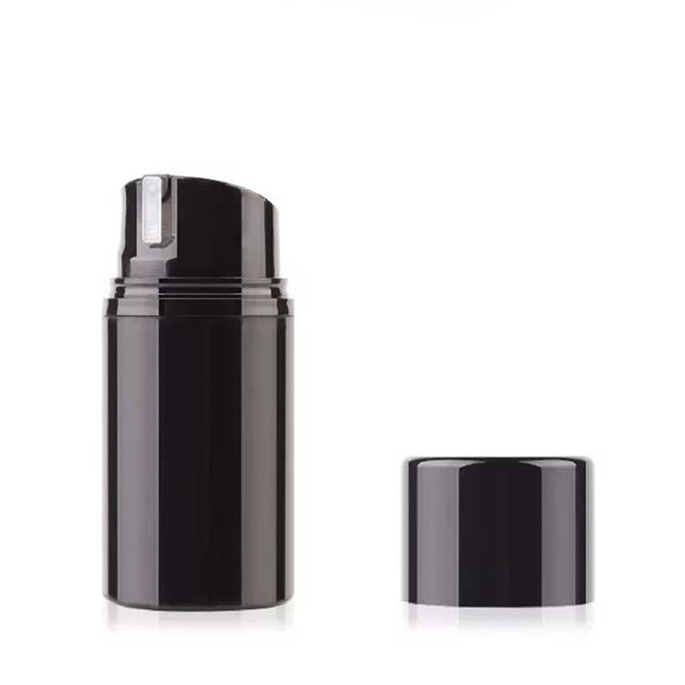 Cosmetic packaging spray black airless pump bottle for wholesale