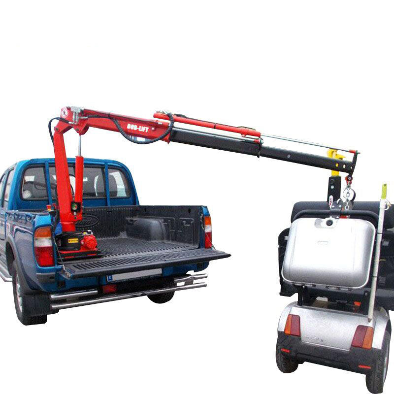 Kleine Mini Hydraulische Giek Pick Up Crane 12 v