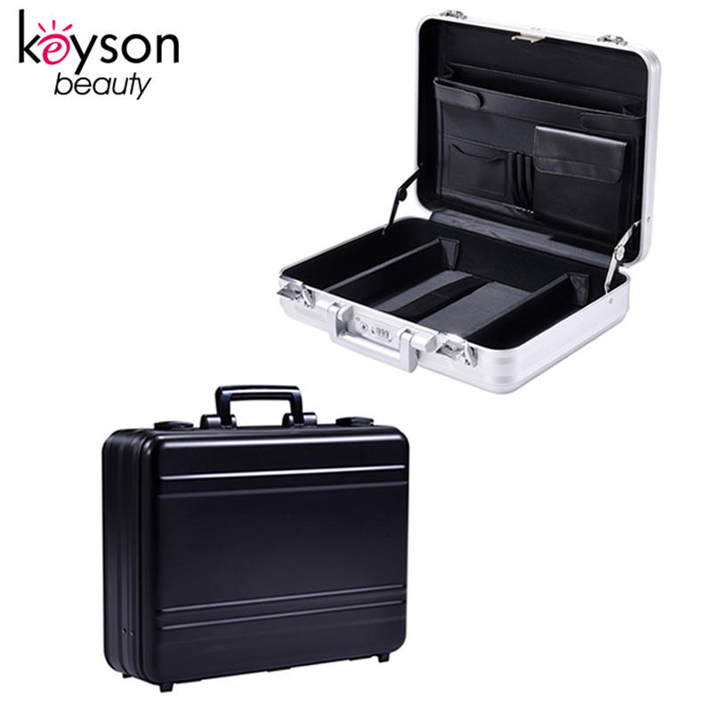 Keyson Fabrik OEM Aluminium Business Laptop Box Tragbare Attache Fall mit Inlay Benutzerdefinierte