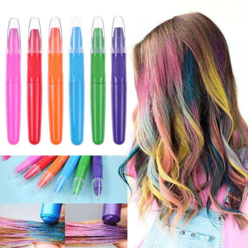 Private Custom Simple Fast And Dry 6 Colors Fashion Safe Hair Dye Pen