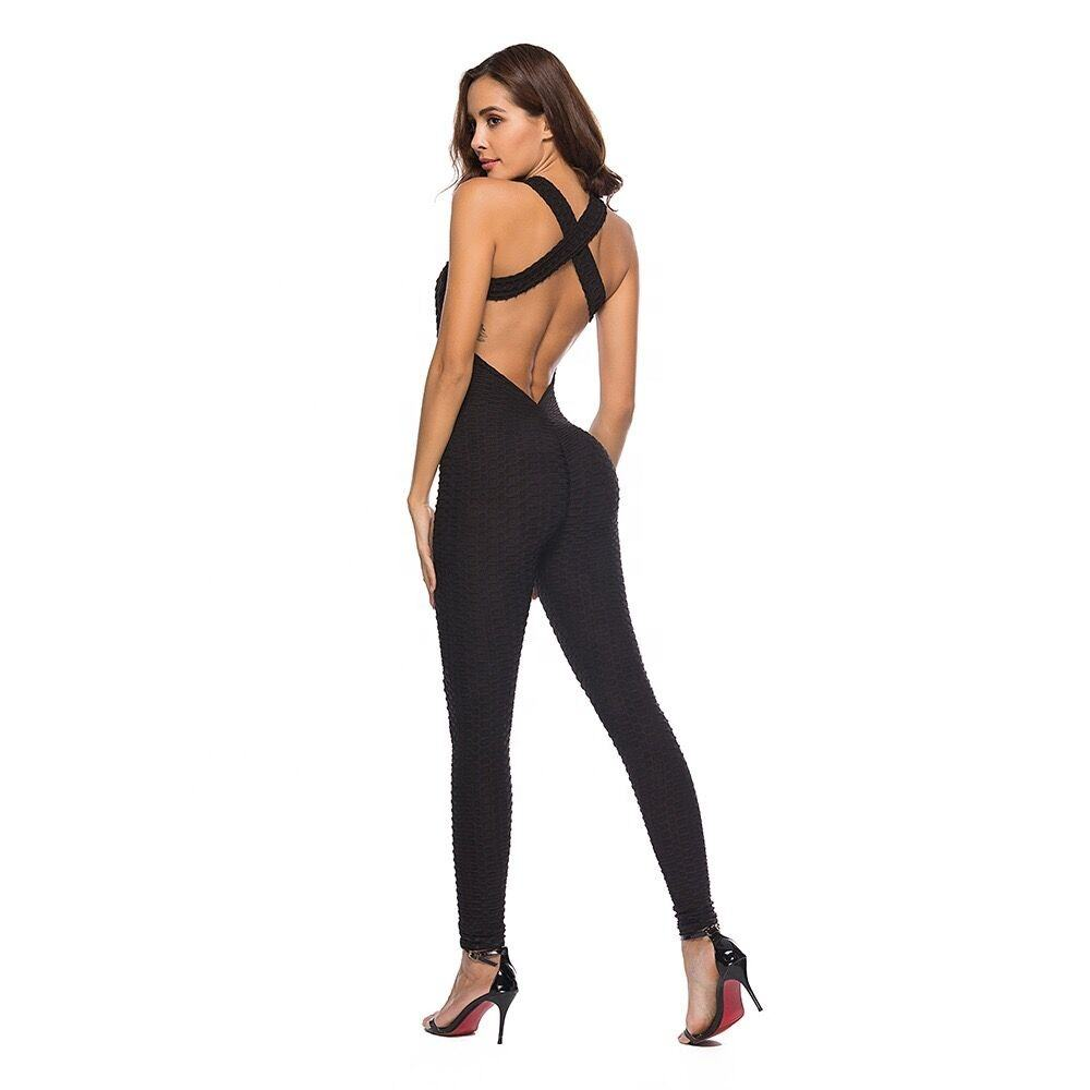 Women sexy Sports Training Yoga Jumpsuit Active Wear Stretch Fitness Jumpsuit