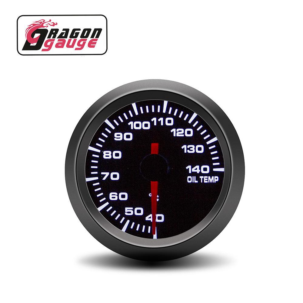 DRAGON GAUGE Pointer 12V 52mm Stepper Motor Car Modification Gauge 40~140 Oil Temperature Gauge car meter