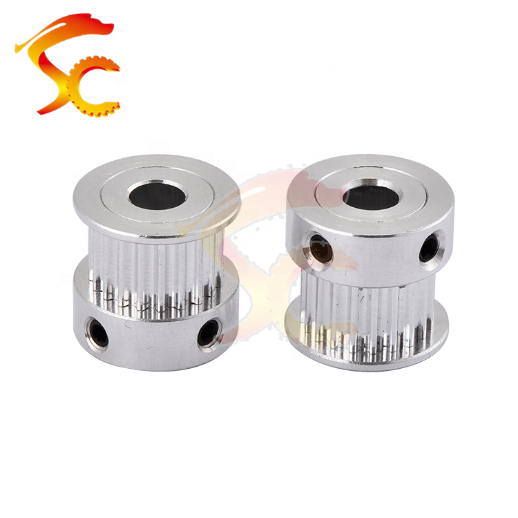 1060#CNC Parts GT2/2M Synchronous timing 20 teeth bore 5mm belt width 6mm Aluminum Alloy Timing Pulley