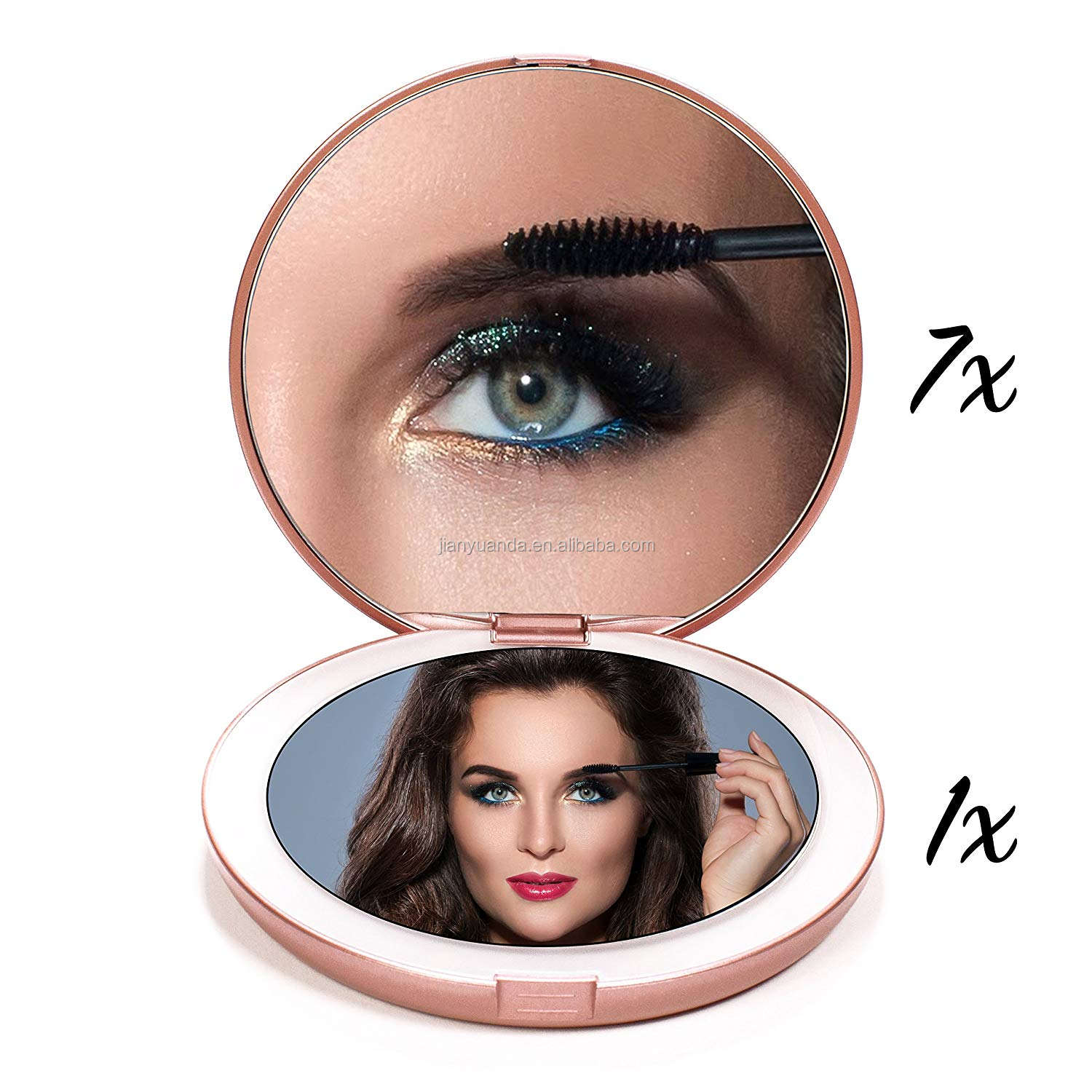Affordable Price LED Compact Mirror with Lights Double Side Portable Mirror Compact