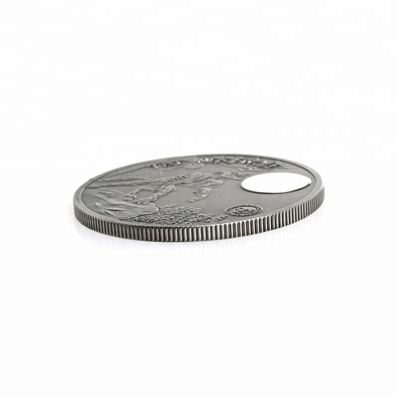 Custom nuevo hombre lobo criaturas míticas plateado Token recuerdo moneda colección regalo