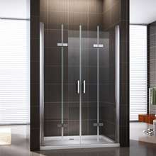 custom folding 4 pieces easy clean glass fiberglass shower enclosure shower door