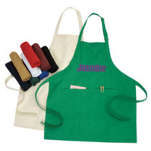 with pocket natural  cotton apron painting apron for kids