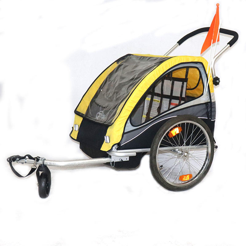 aluminum frame double twin luxury baby stroller 3 in 1 bicycle baby trailer