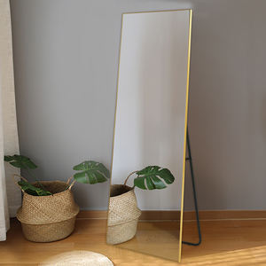 Wholesale cheap stand floor mirror metal aluminum framed dressing full mirror for amazon