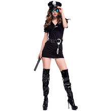 Sexy Policewoman Uniform Halloween Masquerade Party Cosplay Costumes  Sexy Dress