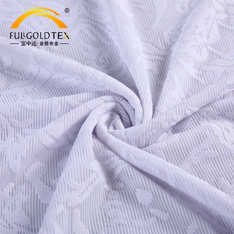 Plus populaire pas cher blanc floral jacquard polyester dentelle tissu conception <span class=keywords><strong>france</strong></span> vêtement