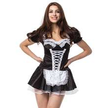 Factory hot sale women sexy maid costume