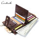 contact's dropship wholesale custom crazy horse leather 14 cards slots vintage short bifold leather wallet men with coin pockets