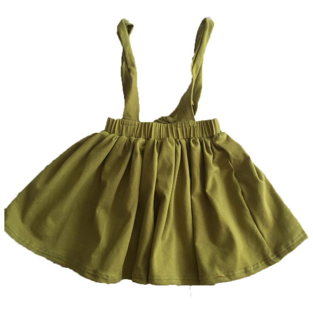 2 Pieces Set Girls Dress T-Shirt Suspender Skirt School Age 4-12 Years