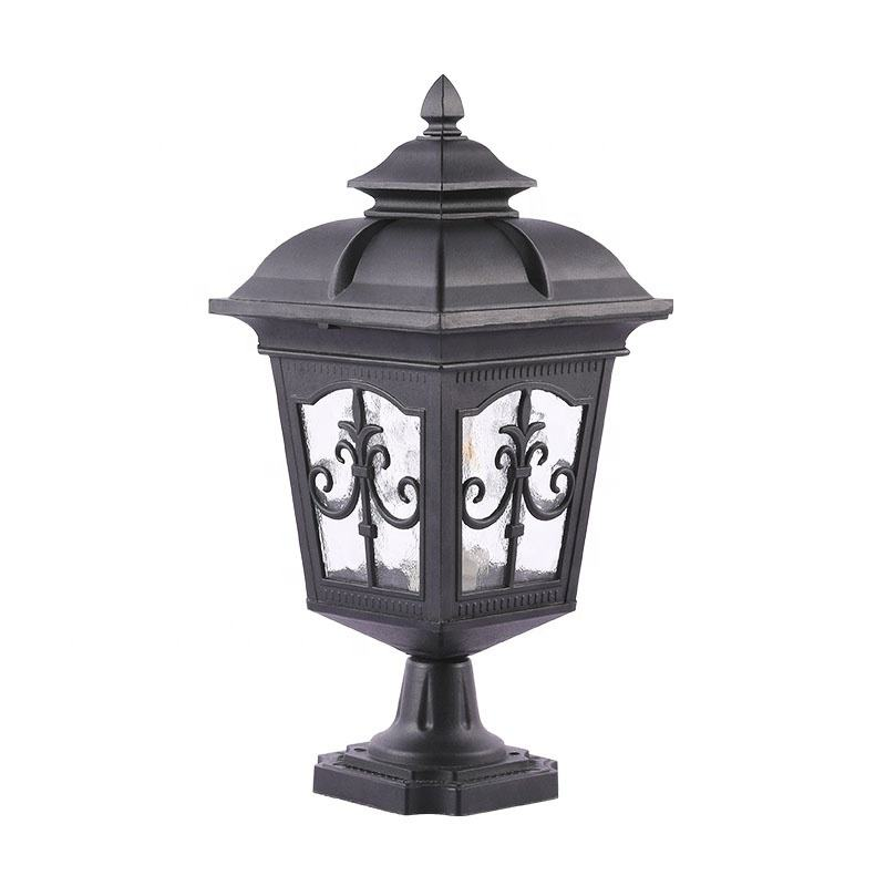 Wholesale Waterproof Classical Outdoor Decorative Garden Pillar light Gate Fence Post light