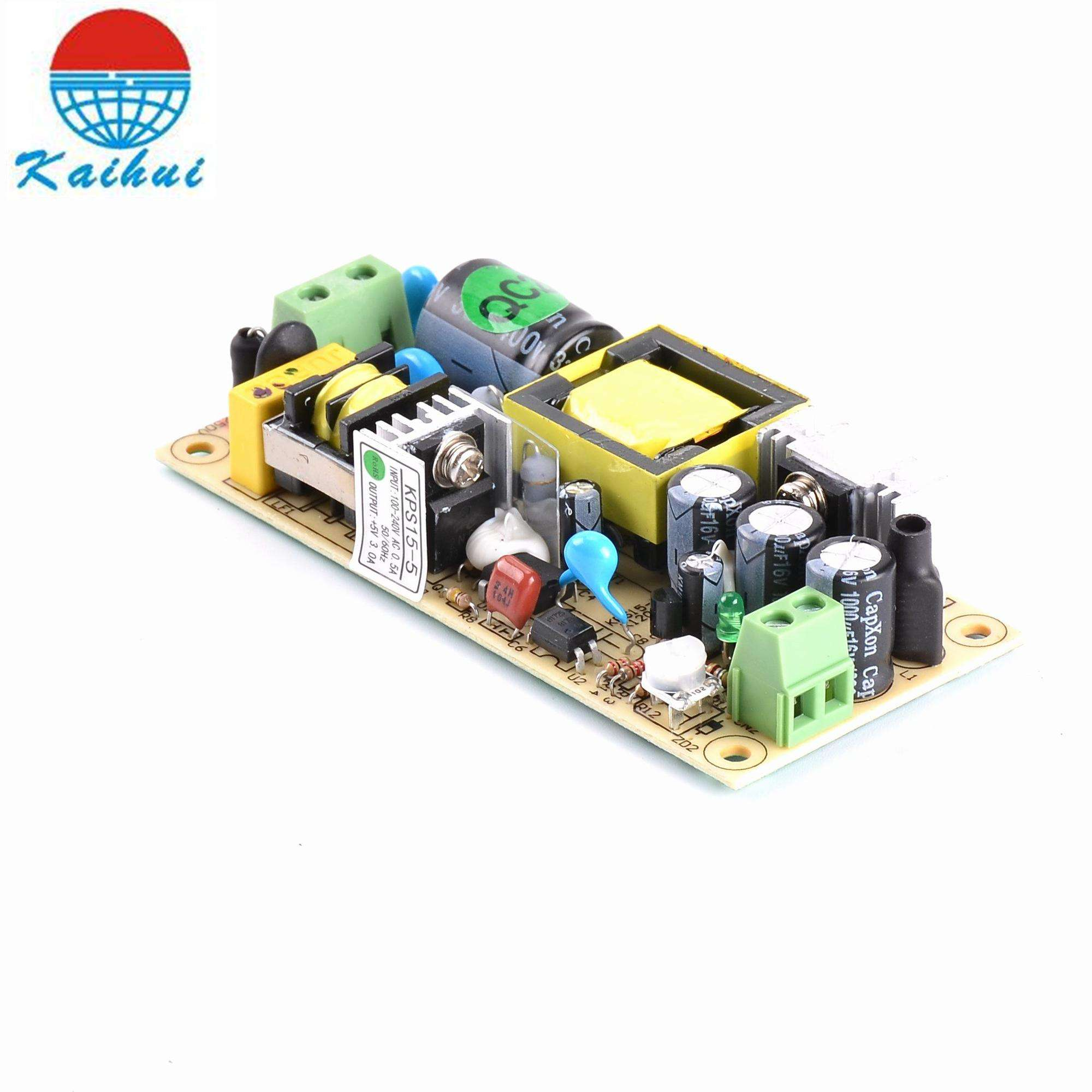 Type simple de sortie 5vdc 15vdc carte d'alimentation 15 w