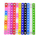 2019 Promotion Gift Rubber Colorful Wristband bracelet children adjustable silicone charm bracelet