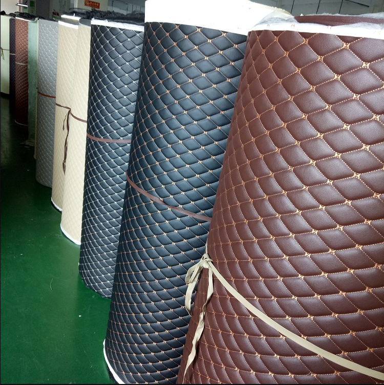 high quality fashion Design PVC Leather Material for Car Mat Car Seat Covers Car Upholstery