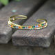 New arrived Rainbow CZ Cuff Bracelets Bangles For Women