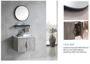 Modern Bathroom Furniture Wall Vanity Cabinets with Sink Mirror