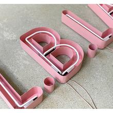 Customized popular  2019 custom neon advertising  metal neon flexible led neon letter sign for shop