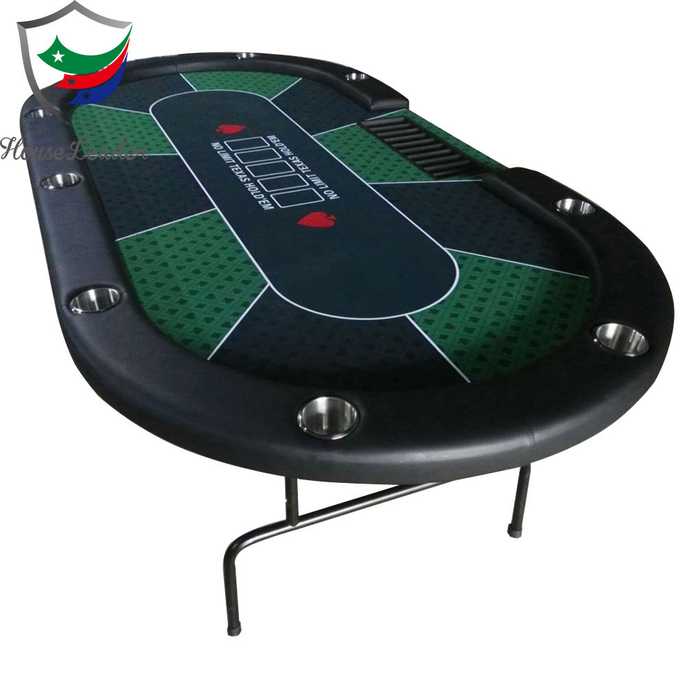 Professional 84 inch High Quality Cheap Custom Foldable Metal Leg Cash Game Casino Poker Table