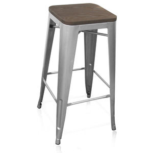 Singapore vintage industrial wooden tops metal bar stools