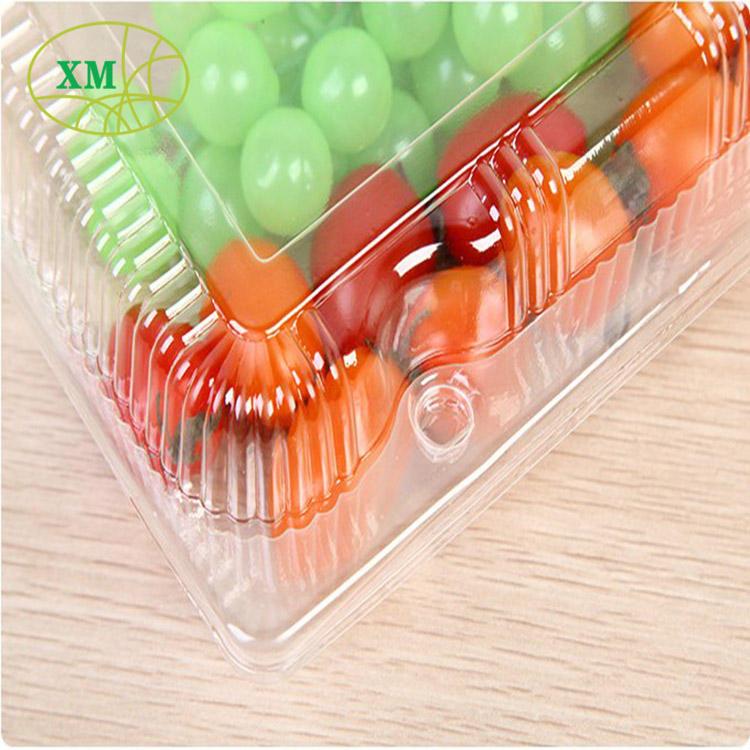 Раскладушек упаковки овощей фруктов ПЭТ пищевых контейнеров Клубника Упаковку