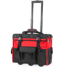 Large Capacity Rolling Tool Bag Organizer Durable Heavy Duty Tool Bag With Wheels