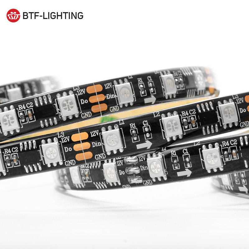 Top quality 12v ip65 flexible 5m 300pixels rgb ws2811 led strip