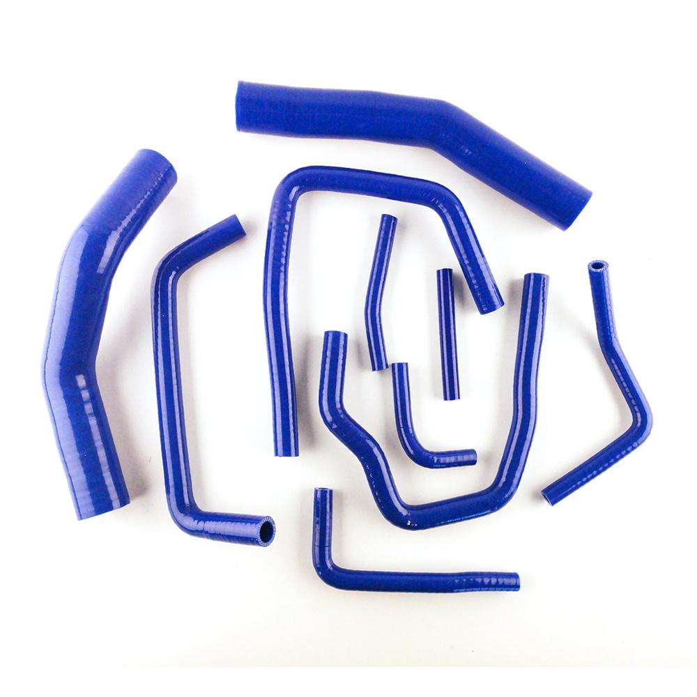 Blue For Toyota Land Cruiser HDJ80 1HD-T 4.2L Diesel 1990-1997 Silicone Radiator Pipe Hose Tube Kit