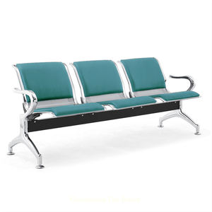 Factory 4 seater Steel iron waiting room seating used medical hospital clinic reception airport chairs