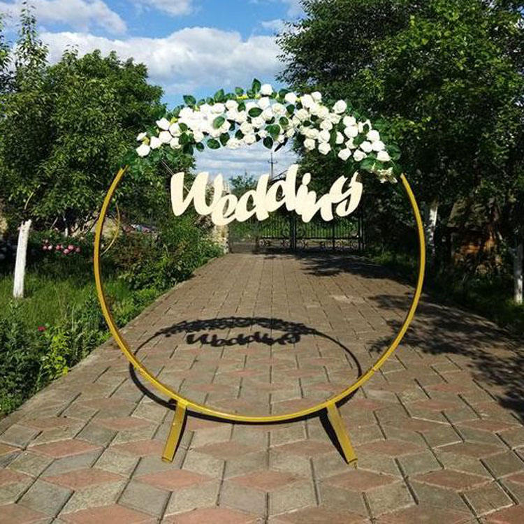 Wedding Circle Arch Frame Round Wedding Backdrop Stand