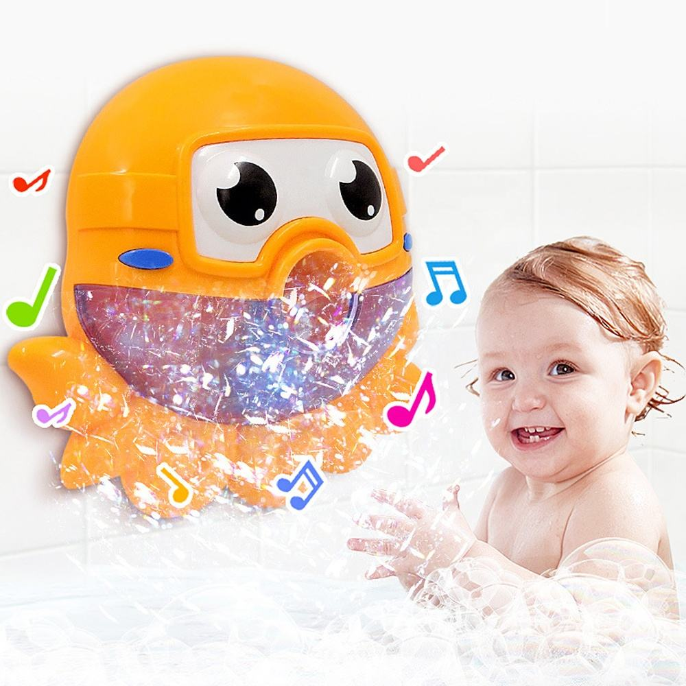 Baby bath bubble machine tub big octupus automatic bubble maker blower bathtub bath toys similar to bubble crab toy