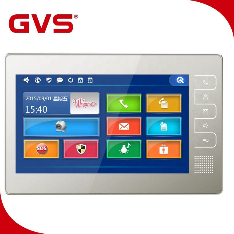 2019 China Factory GVS Video Door Phone System IP/TCP 7 Inch Indoor Monitor 7'' POE Switch Unlock Video Door Intercom System