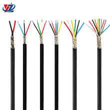 YGZP 2 3 4 core 0.08mm 0.12mm Silicone insulation tinned copper braid shield flexible electrical cable for power plants