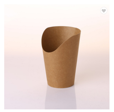 Professional Custom Hot Kraft Disposable Snack Cup French Fries Paper Cup Fast Food Cup