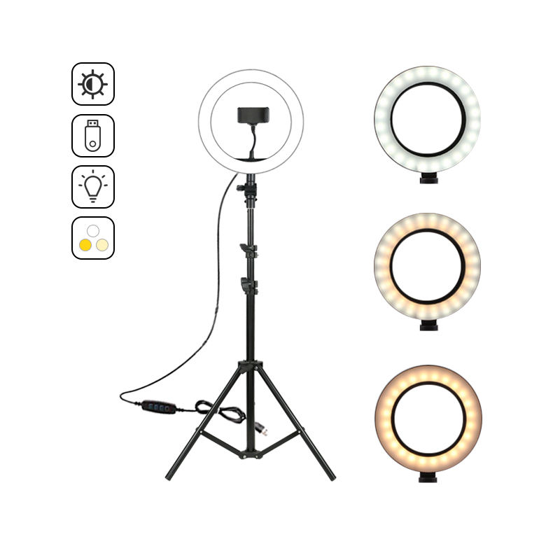 Lifting Beugel 12 W Dimbare LED Ring Lamp Voor <span class=keywords><strong>Camera</strong></span> Telefoon <span class=keywords><strong>Video</strong></span>