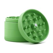 Custom logo aluminum alloy silicone coating herb grinder 63mm 4 piece tobacco weed grinder smoking accessories