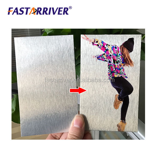 silver color photo print metal sheet sublimation aluminum blank