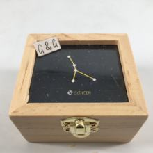 Wind Up Photo Frame Twelve Constellation Wood Custom Music Box