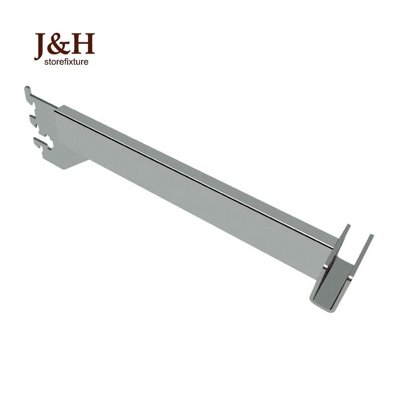 4mm thickness 300mm length metal chrome plated faceout bracket for holding 13*38mm square tube