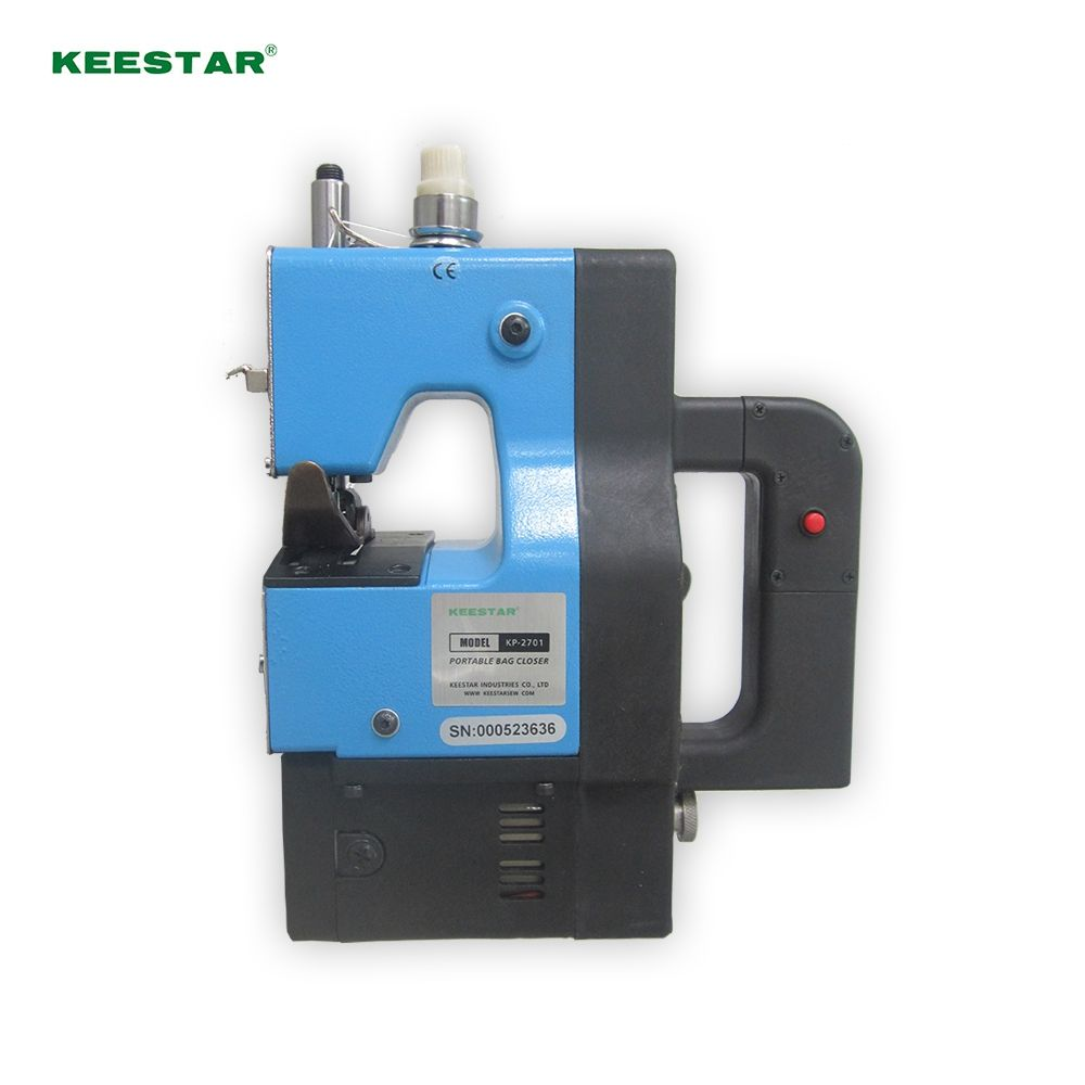 Keestar KP-2701 chain stitch handle portable woven sack /jute bag closing machine