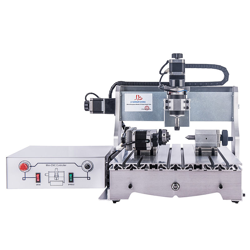 300W Mini CNC Router Engraver 220V High precision little noise 400*300mm 4030 White control box engraving Milling Machine