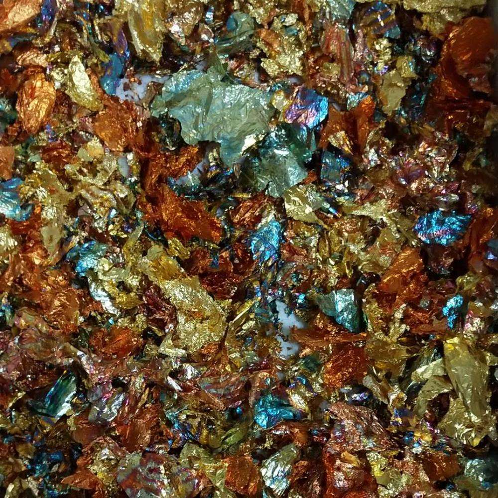 Best popular Italy colorful variegated flakes scrap gold flakes