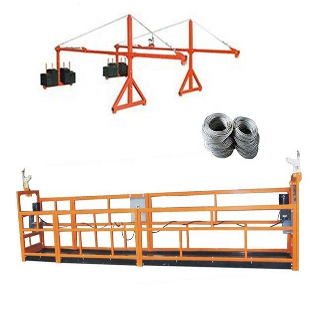 ZLP630 hoist motor power aluminum alloy steel suspended platform