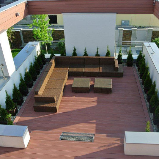 2020 Double Color Wpc Schwimmbad Decking Outdoor-Bodenbelag